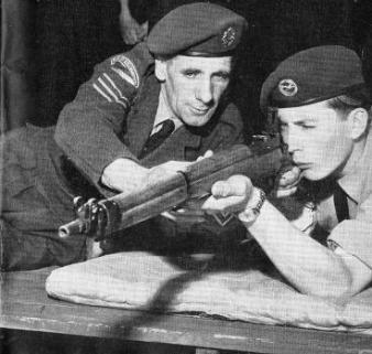 Cadet and Lee-enfield rifle